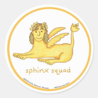 Sphinx Squad round stickers
