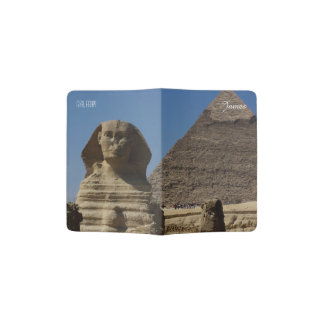 Sphinx Statue Giza Cairo Egypt Travel Souvenir Passport Holder