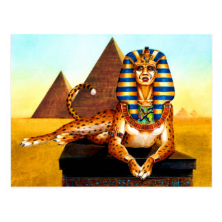 Sphinx with Golden Eyes Postcard