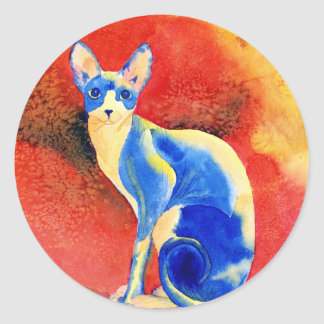 Sphynx Cat #1 Round Stickers