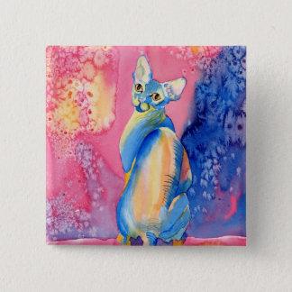 Sphynx Cat #2 Button