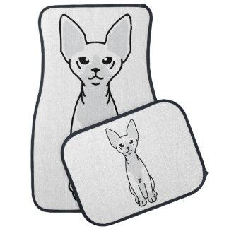 Sphynx Cat Cartoon Car Mat