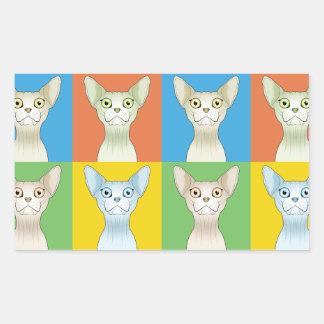 Sphynx Cat Cartoon Pop-Art Sticker