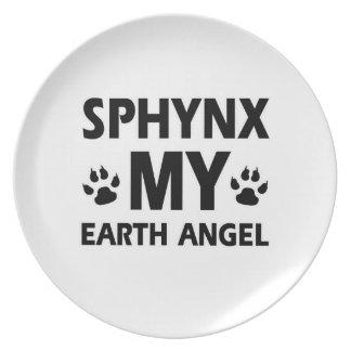 SPHYNX CAT DESIGN PARTY PLATES