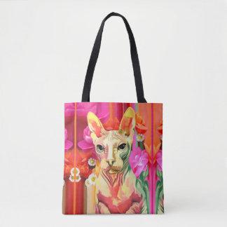 Sphynx cat Flower Fairy. Tote Bag