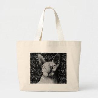 Sphynx cat large tote bag