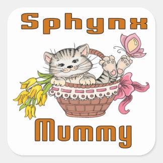 Sphynx Cat Mom Square Sticker