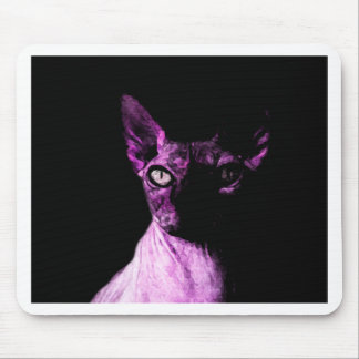 Sphynx cat mouse pad