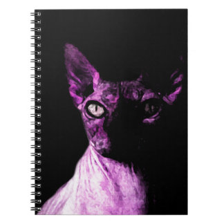 Sphynx cat spiral notebooks