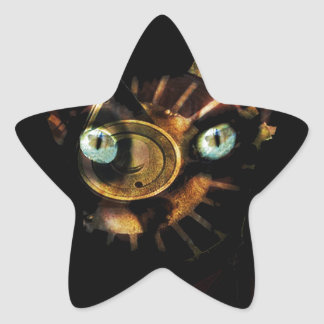 Sphynx cat star sticker