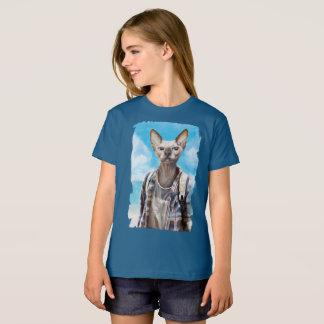 Sphynx cat. tourist. T-Shirt