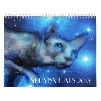 Sphynx Cats 2013 wall calendar Svetlana Novikova