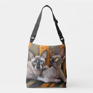 Sphynx cats crossbody bag