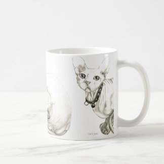 Sphynx Hairless Cat by Ohio Artist Carol Zeock Coffee Mug