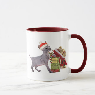 Sphynx kitten Christmas Mugs