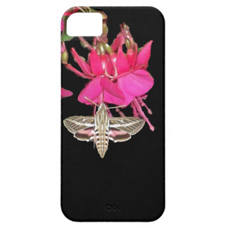 Sphynx Moth Butterfly Fuschia Flowers Floral iPhone 5 Cases