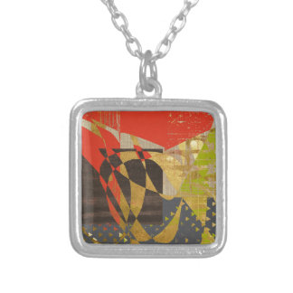 Spice Abstract Square Pendant Necklace