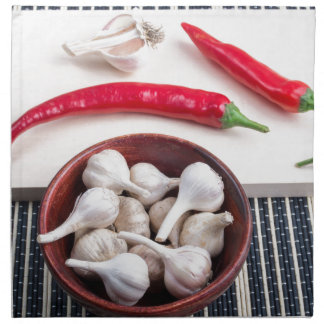 Spice background for cooking napkin