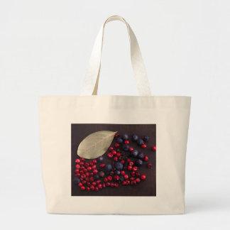 Spice Berries Large Tote Bag