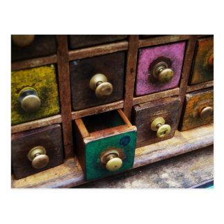 Spice drawers postcard