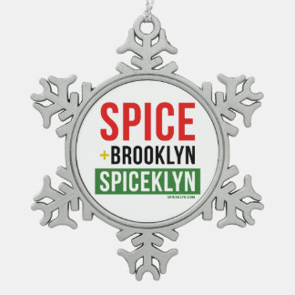 Spice Flake Snowflake Pewter Christmas Ornament