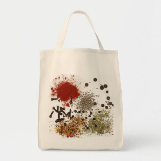 Spice of Life Grocery Tote Bag