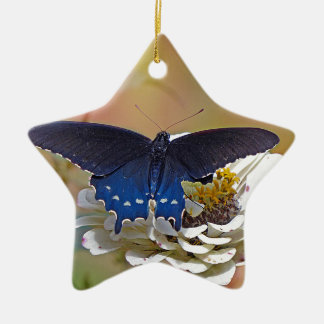 Spicebush Swallowtail Ceramic Star Ornament