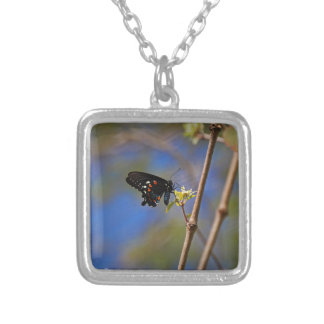 Spicebush Swallowtail I Silver Plated Necklace