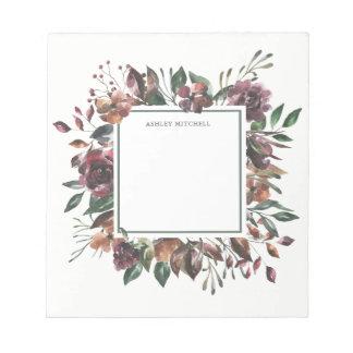 Spiced Botanical | Floral Frame Notepad