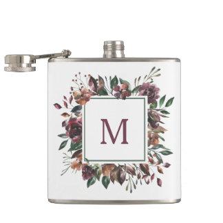Spiced Botanical   Monogram Hip Flask