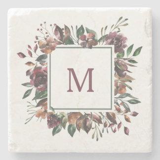 Spiced Botanical | Monogram Stone Coaster
