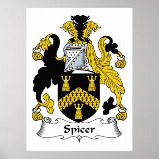 Spicer Family Crest Poster