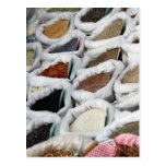spices at the market postcard