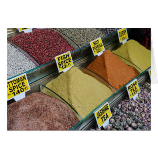 Spices for Sale in Istanbul Turkey Card