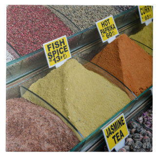 Spices for Sale in Istanbul Turkey Ceramic Tiles