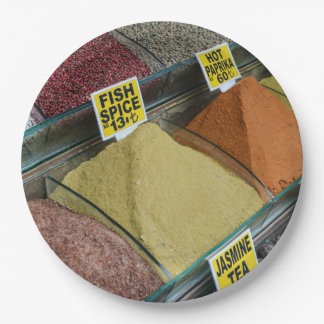 Spices for Sale in Istanbul Turkey Paper Plate