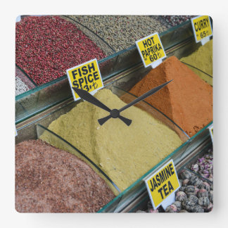 Spices for Sale in Istanbul Turkey Square Wall Clock
