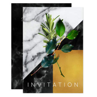 Spices Italian Chef Dinner Greenery Organic Marble Card
