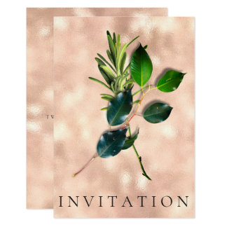 Spices Italian Dinner Green Organic Marble Rose Card