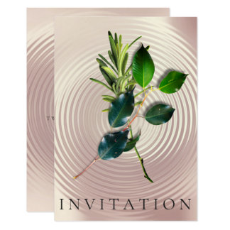 Spices Italian Dinner Green Organic Pearly Metal Card