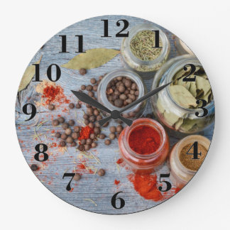 Spices Large Clock