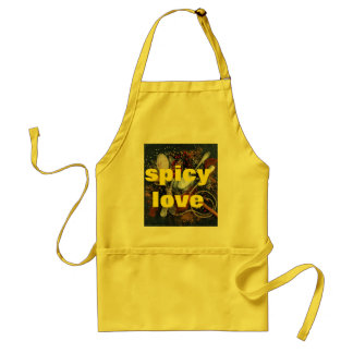 spices love themed custom apron