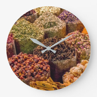 Spices of the Middle East Wall Clock