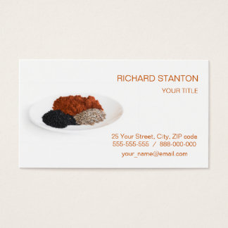 Spicies on the plate business card