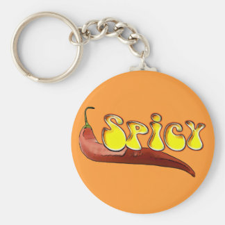 Spicy Basic Round Button Keychain
