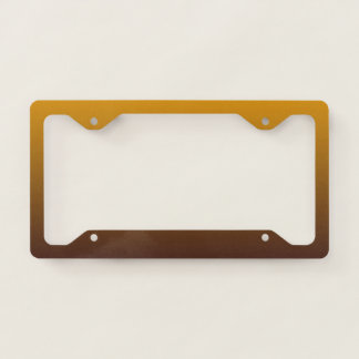 Spicy Gold Brown Ombre License Plate Frame