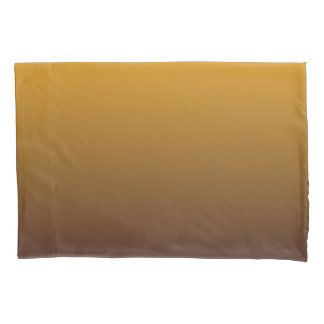 Spicy Gold Brown Ombre Pillowcase