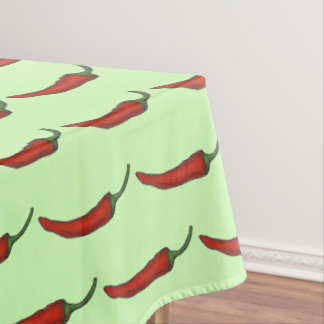 Spicy Hot Chili Chile Red Pepper Foodie Print Tablecloth