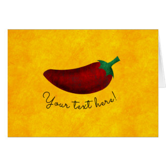 Spicy Hot Southwest Chili Pepper Card