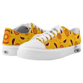 Spicy Hot Southwest Chili Pepper Pattern Low-Top Sneakers
